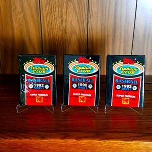 1992 Topps Stadium Club baseball cards, 3 packs